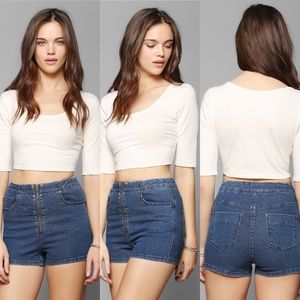 Urban Outfitters   BDG Super High Rise Jean Shorts